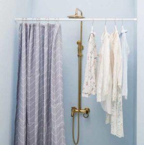 Adjustable Tension Shower Curtain Rod