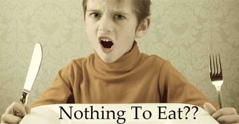 Nothing to Eat and no Money