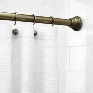 best tension shower rod on bathroom tile