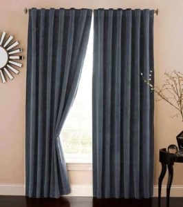 Romantic bedroom Noise reducing curtains